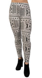Black and White Tribal Leggings Design 435