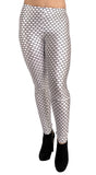 Black and White Honeycomb Leggings Design 226