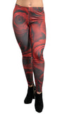 Red Roses Leggings Design 592