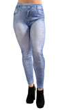 Blue Faded Denim Jeans Leggings Design 509