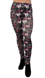 Black White and Pink Skulls Leggings Design 28