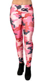 Pink Black and Red Camo Leggings Design 240