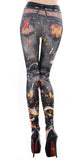 Black Tattoo Design 375 Leggings