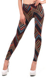Brown Red And Blue Leggings Design 499