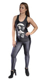 Zombie Model Black Tank Top Design 13063