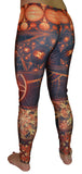 Fractal Print Leggings Design 536