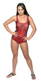 Women's Red Middle Finger One-Piece Women's Swimsuit Design 5009