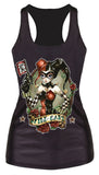 Wild Card Black Tank Top Design 13052