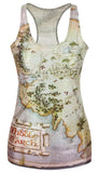 Middle Earth Map Tank Top Design 13050