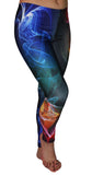 Black with Colorful Smoke Leggings Design 619