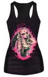 Fallen Angel Black Tank Top Design 13056