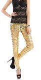 Gold Shiny Cutout Leggings Design 147