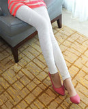 White Embossed Velvet Leggings Design 194
