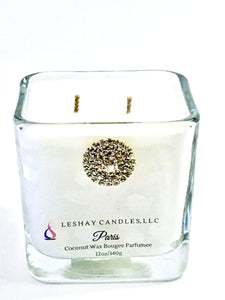 """Paris"" Cube Jar Candle"