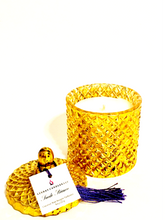 "Load image into Gallery viewer, ""Suede Bianco"" Diamond Jar Candle"