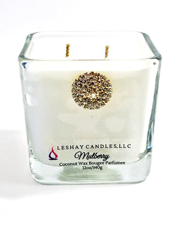 Mulberry Cube Jar Candle