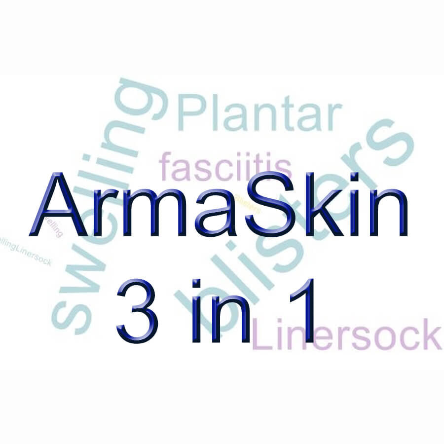 ArmaSkin liner socks:  a trifecta for happy feet.