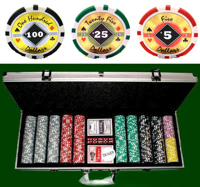 Black Diamond - 500 Piece Set - Gutshot Poker Supply