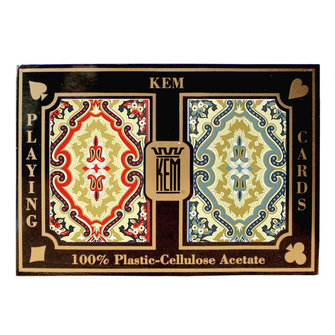 Kem Paisley Standard Index - 2 Deck Set - Gutshot Poker Supply