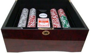 Yin Yang - 500 Piece Set (Mahogany Case) - Gutshot Poker Supply