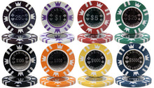 Load image into Gallery viewer, Coin Inlay Poker Chips - 25 Pieces - Gutshot Poker Supply