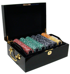 Coin Inlay - 500 Piece Set (Mahogany Case) - Gutshot Poker Supply