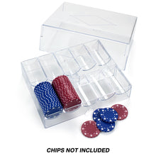 Load image into Gallery viewer, 200 Piece Acrylic Chip Tray (with Lid) - Gutshot Poker Supply