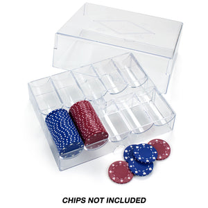 200 Piece Acrylic Chip Tray (with Lid) - Gutshot Poker Supply