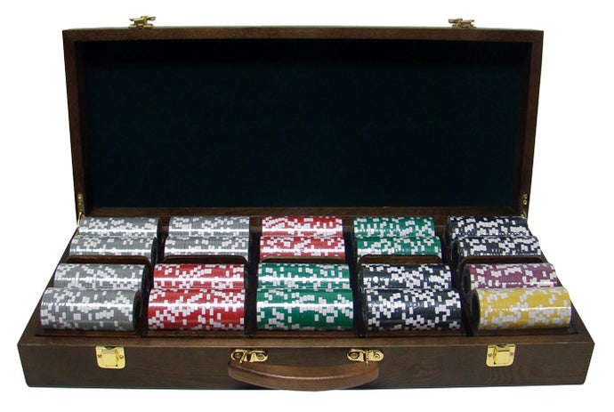 Ben Franklin - 500 Piece Set (Walnut Case) - Gutshot Poker Supply