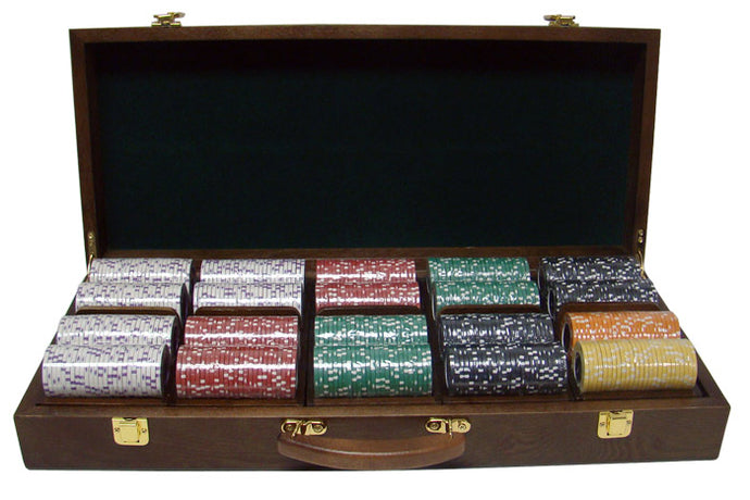 Coin Inlay - 500 Piece Set (Walnut Case) - Gutshot Poker Supply