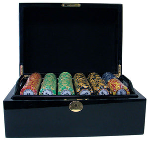 Monte Carlo - 500 Piece Set (Mahogany Case) - Gutshot Poker Supply