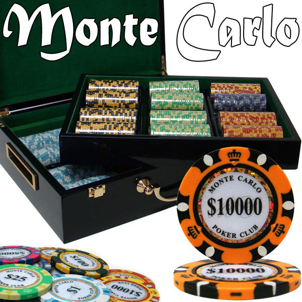 Monte Carlo - 500 Piece Set (Glossy Case) - Gutshot Poker Supply
