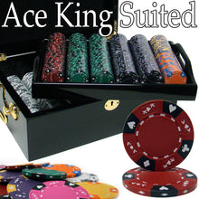 Load image into Gallery viewer, Ace King Suited - 500 Piece Set (Mahogany Case) - Gutshot Poker Supply