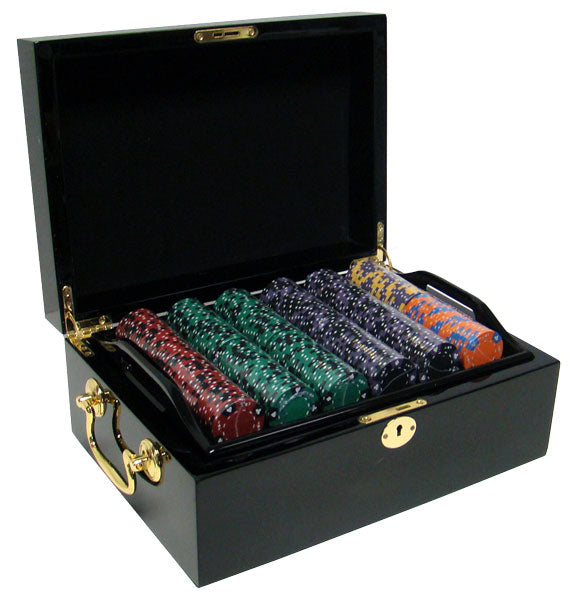 Ace King Suited - 500 Piece Set (Mahogany Case) - Gutshot Poker Supply