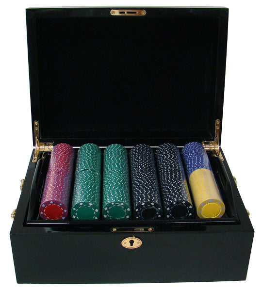 Suited - 500 Piece Set (Mahogany Case) - Gutshot Poker Supply