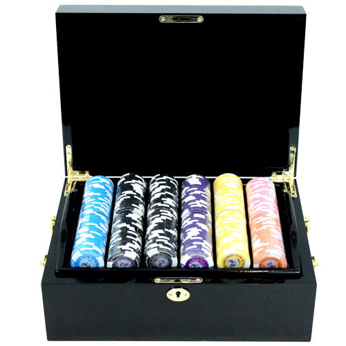 Tounament Series - 500 Piece Set (Mahogany Case) - Gutshot Poker Supply