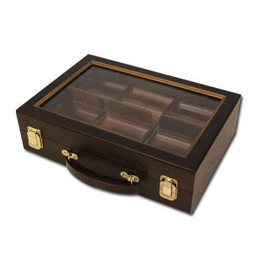 300 Piece Walnut Wooden Case with Clear Lid - Gutshot Poker Supply