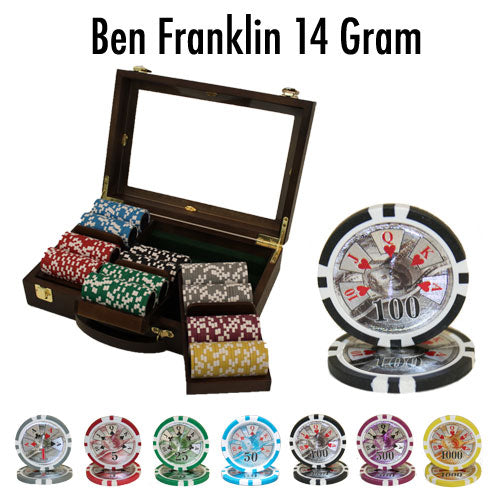 Ben Franklin - 300 Piece Set (Walnut Case) - Gutshot Poker Supply