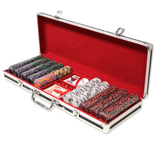 Load image into Gallery viewer, Ace King Suited - 500 Piece Set (Black Aluminum) - Gutshot Poker Supply
