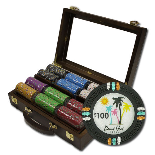 Desert Heat - 300 Piece Set (Walnut Case) - Gutshot Poker Supply