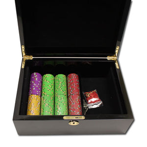 Desert Heat - 500 Piece Set (Mahogany Case) - Gutshot Poker Supply