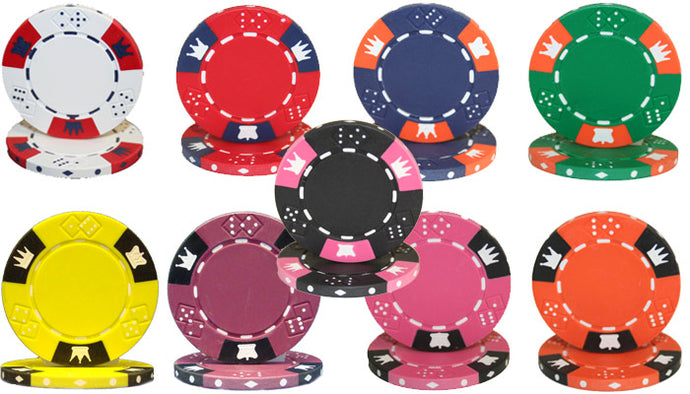 Crown & Dice Poker Chips - 25 Pieces - Gutshot Poker Supply