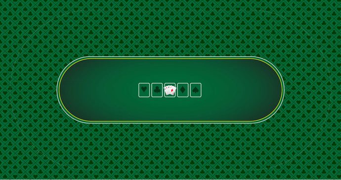 Sublimation Poker Table Felt - Green (Suited Design) - Gutshot Poker Supply