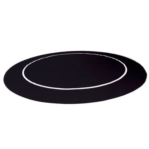 "54"" Poker Table Layout with Rubber Grip (Black) - Gutshot Poker Supply"