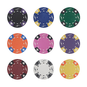 Ace King Suited Poker Chips - 25 Pieces - Gutshot Poker Supply