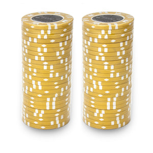 Coin Inlay Poker Chips - 25 Pieces - Gutshot Poker Supply