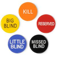 Load image into Gallery viewer, Button Combo Pack (Little Blind, Big Blind, Kill, Miss, & Reserve) - Gutshot Poker Supply