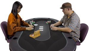 Sublimation Poker Table Felt - Black - Gutshot Poker Supply