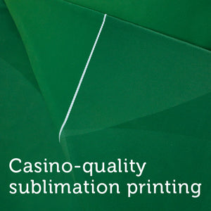 Sublimation Poker Table Felt - Green (Deluxe Diamond Design) - Gutshot Poker Supply