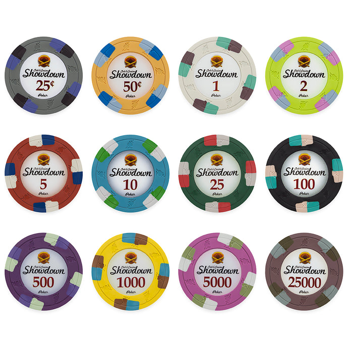 Showdown Poker Chips - 25 Pieces - Gutshot Poker Supply